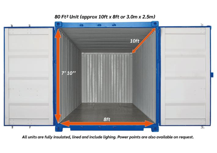 80ftsq outdoor Storage unit 02 - xtra space self storage