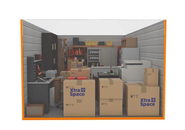 Graphic 100sqft - xtra space self storage