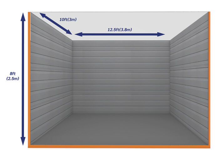 Graphic Empty Unit 125ft - xtra space self storage