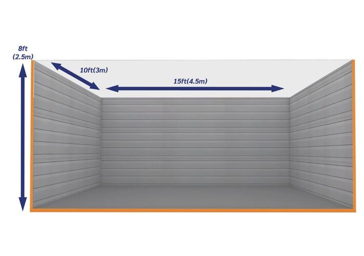Graphic Empty Unit 150ft - xtra space self storage