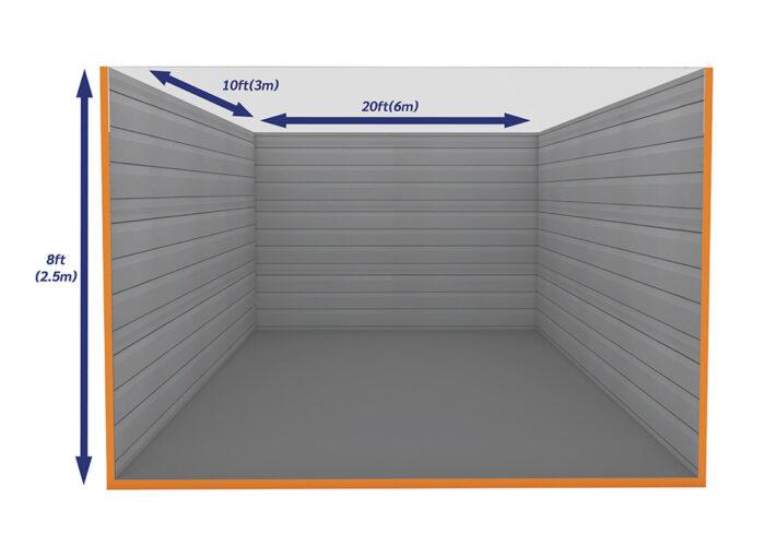 Graphic Empty Unit 200ft - xtra space self storage