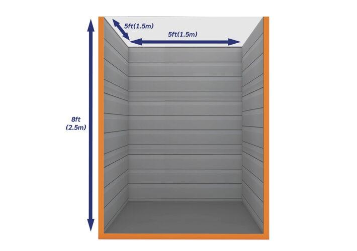 Graphic Empty Unit 25ft - xtra space self storage
