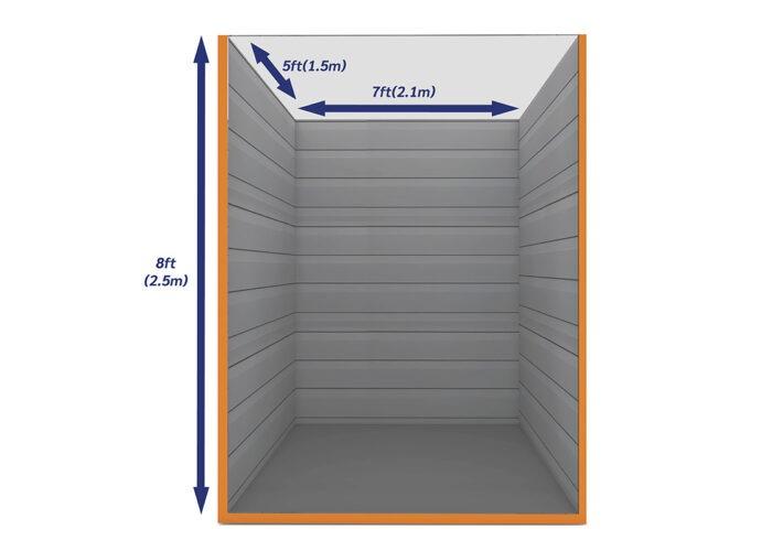 Graphic Empty Unit 35ft - xtra space self storage