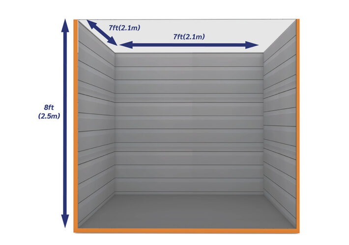 Graphic Empty Unit 50ft - xtra space self storage