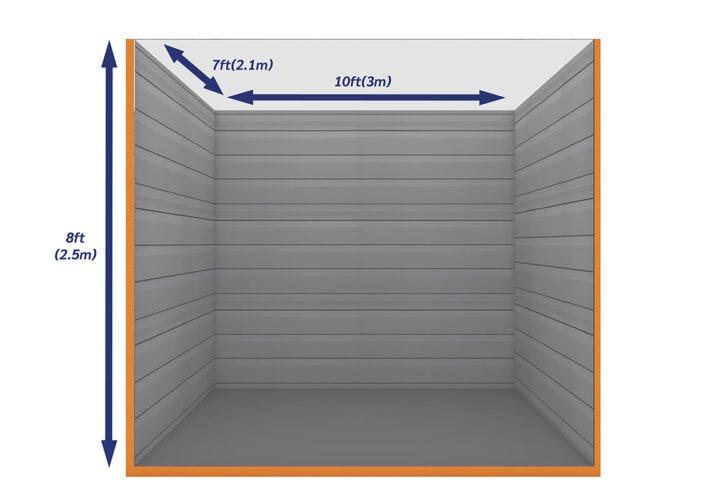 Graphic Empty Unit 75ft - xtra space self storage